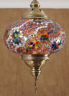 Mosaique lampes turques étoile au plafond lampe suspendue