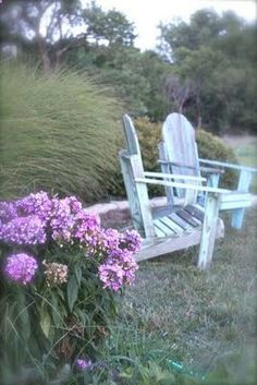 Adirondack chairs weathered
