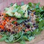 Quinoa Avocado Salad with Black Beans Over Arugula - Dr. Mark Hyman