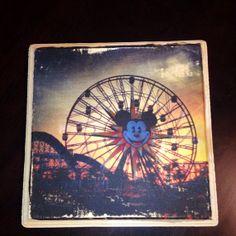 "Disneyland Disney's California Adventure Mickey's Fun Wheel print - 7"" x 7"""