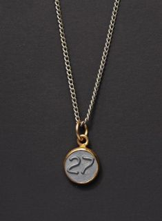 31c60e3dc2ea Number 27 Necklace   Mens Necklace   Numerology Personalized Men Jewelry    Man Jewelry   Number TWENTY-SEVEN Pendant   silver chain for men
