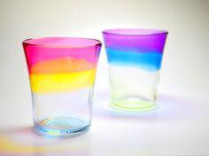 夕陽グラスと宵のグラスのセット