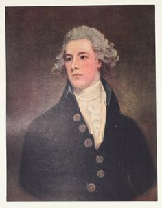 William Pitt, The Younger by George Romneyv- Vintage 1914 Portrait Painting Print, Vintage Book Plate