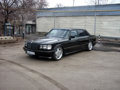 Mercedes-Benz W126 500SEL Black on AMG Monoblocks | BENZTUNING | Performance and Style