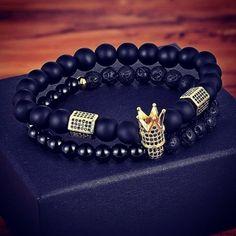 Bracelets for men Stone Beads, Bracelets For Men, Natural Stones, Jewelry, Style, Fashion, Swag, Moda, Jewlery