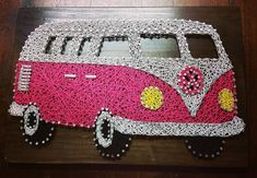 Hey, I found this really awesome Etsy listing at https://www.etsy.com/au/listing/386038564/string-art-volkswagen-combi-van
