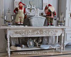 Swedish Father and Mother Christmas traditional living room