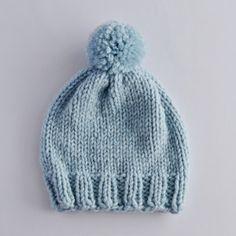 Gestrickte hellblaue Babyhaube Couture, Maya, Knitted Hats, Knitting Patterns, Crochet, Austria, Knits, Fashion, Caps Hats
