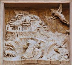 Benedetto Da_Maiano relief z ambony w Santa Croce we Florencji ze scenami z życia św. Franciszka