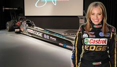 Brittany Force and her Castrol Edge Top   Fuel Dragster