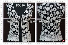 blanco de verano de algodón hecho a máquina de encaje de ganchillo artículo tops-Cordón-Identificación del producto:580173266-spanish.alibaba.com