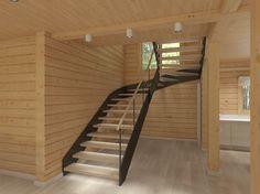 Лестница в цветах: черный, коричневый, бежевый. Лестница в стилях: минимализм, экологический стиль.