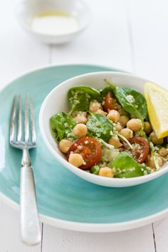 Sips and Spoonfuls: Garbanzo Bean Salad with Bitter Greens