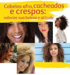 Montagem com mulheres de cabelos crespos