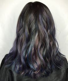 "The color: Dark Moonstone Description: ""This is a fresh take on oil slick hair,"" stated Edelman, who used ..."