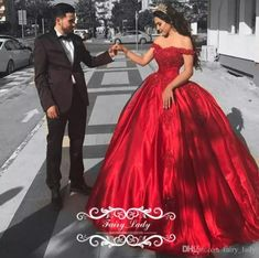 a758a94d45b Cheap Red Satin Quinceanera Dresses For Girls 2017 Ball Gown Off Shoulder  Appliques Beads Long Sweet 16 Prom Dress Formal Gowns