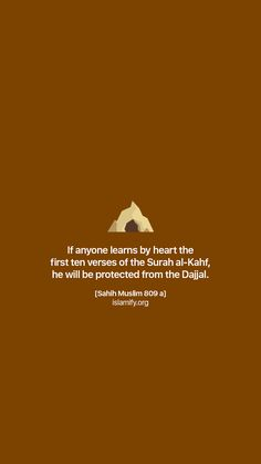 Learns surah al kahf by heart Beautiful Verses, Beautiful Islamic Quotes, Islamic Inspirational Quotes, Islam Hadith, Islam Muslim, Islam Quran, Hadith Quotes, Muslim Quotes, Quran Quotes