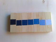 montessori scala cromatica blu