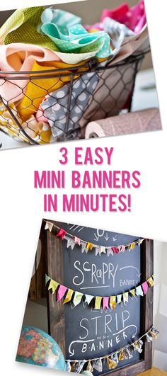 3 Easy Mini Banners in Minutes! #howdoesshe #sewing #crafting howdoesshe.com