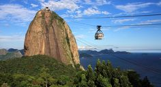 Take a scenic ride on the Sugarloaf Mountain Cable Car for 360-degree views of Copacabana, Ipanema, Guanabara Bay, and a peek of the famous statue of Christ the Redeemer. (From: 7 Beautiful Cable Car Rides Around the World)