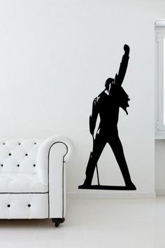 Freddie Mercury - Queen - Silhouette Wall Sticker MEDIUM 40cm x 100cm SKU:131013 by WallStickersWorld on Etsy https://www.etsy.com/listing/166719015/freddie-mercury-queen-silhouette-wall