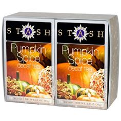 Stash Tea Decaf Pumpkin Spice Tea Boxed Set : holiday