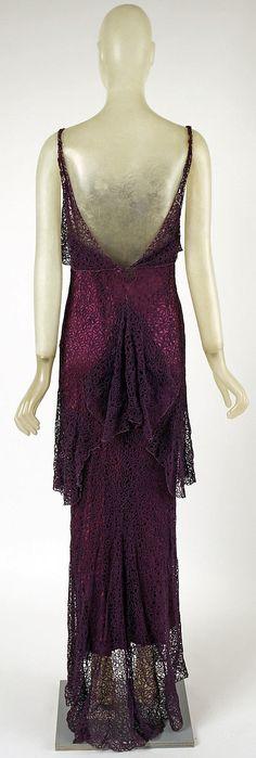 Evening Dress - Back - 1930 - by Madeleine Vionnet (French 1876-1975) -Silk cotton - @~ Watsonette