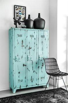 kast EN tapijt - HK LIVING - tapijt oververfd zwart - (120x180) - TAP0833