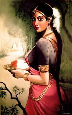 New Tattoo Traditional Indian Girl Awesome Ideas Indian Women Painting, Indian Art Paintings, Indian Artist, Krishna Painting, Krishna Art, Krishna Images, India Painting, Woman Painting, Rajasthani Painting