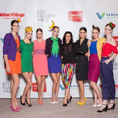 Nicolette Lang Andersen and her #ValueVillage collection #EFW05 #EcoFashionWeek