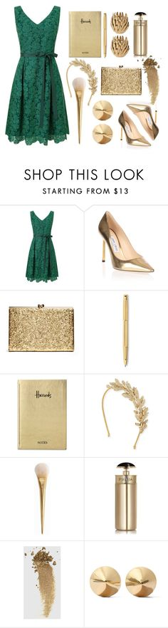 A beautiful green and gold holiday outfit