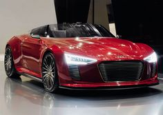 Audi R8 e-tron spyder #R8 #Audi got that black spiderman look.     OMG!!!