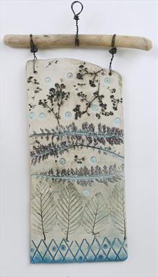Plaque 4 Achillea Leaves by Shirley Vauvelle