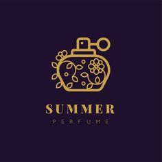 Luxury design floral perfume logo Free V. Vector Logo Design, Logo Design Template, Logo Templates, Menu Design, Perfume Logo, Golden Design, Outline Designs, Design Floral, Free Logo