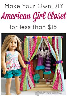 If you found the doll hanger tutorial that I posted last Wednesday to be fun and exciting, then this DIY American Girl closet should be right up your alley. Those of us that are trapped in