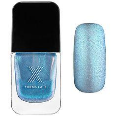 Formula X - Liquid Crystals - Moon Glow - iridescent blue micro-glitter in sheer baby blue #sephora