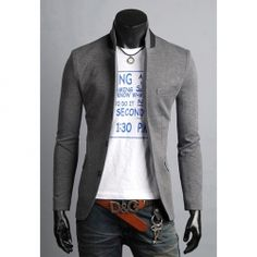 New Arrival Slimming Stand Collar Blazer. I always love the ones with the straight short collars.