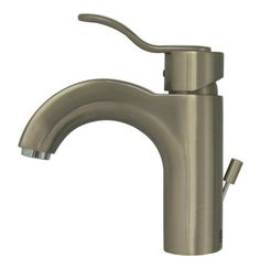 Whitehaus Wavehaus Single Hole/Single Lever Lavatory Faucet with Pop-Up Waste, Brushed Nickel