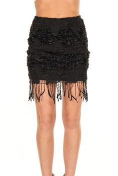 Music Festival https://sincerelysweetboutique.com/shop-collections/music-festivals.html - #music-festivals #festival #musicFestival - Black Flapper Fringe Lace Skirt
