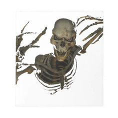 Funny Skeleton Notepad #family, #friend, #girl, #boy. Custom your own #family, #friend, #girl, #boy artwork, design, photo, illustration with Notepads for Home or Office Collection. Check out link now https://www.zazzle.com/collections/notepads_for_home_or_office_collection-119235710955931277?rf=238457900337226684&tc=NotepadsforHomeorOfficeCollectionGryponsPin #perfect #best #image #photo #notepad