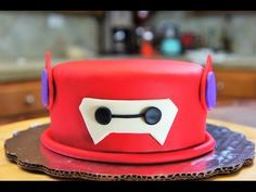 BAYMAX (BIG HERO 6 CAKE) - BAKING DAY - YouTube