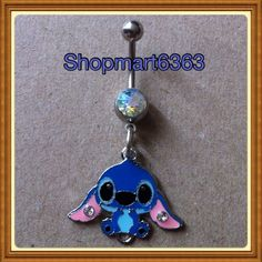 LILO & STITCH  BELLY RING 316L SURGICAL STEEL 14 GAUGE / New # 1
