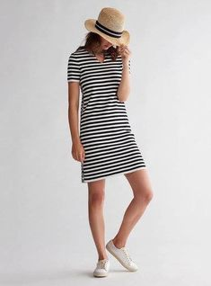 Short Sleeve Dresses, Dresses With Sleeves, Shirt Dress, T Shirt, Striped Dress, Stripes, Black And White, Shopping, Summer