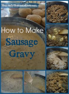 Biscuits and Gravy (with turkey sausage) - I think I would use regular sausage!