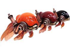 SteamPunk sculptures by Michihiro Matsuoka