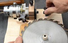 ❧ Table saw blade sharpening jig
