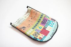 How to sew a pencil case or make up bag with a zip DIY tutorial. Пенал или косметичка. МК.