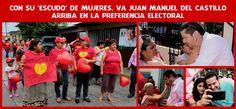 Con su 'escudo' de mujeres, va Juan Manuel del Castillo arriba en la preferencia electoral
