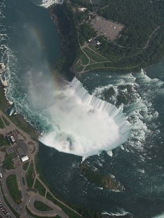 Aerial View of Horseshoe Falls, Canada