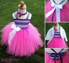 Doc McStuffins Costume Tutu Dress by JustaLittleSassShop on Etsy, $50.00